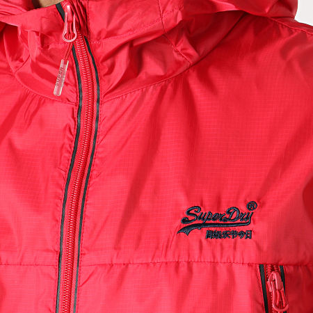 Superdry - Coupe-Vent Offshore Packable Cagoule M50105PU Rouge