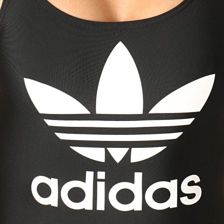 adidas -  Maillot De Bain Une Pièce Femme Trefoil ED7537 Noir Blanc