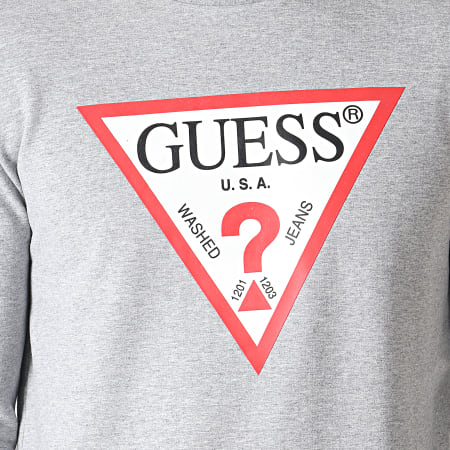 Guess - Sweat Crewneck M93Q22K6ZS0 Gris Chiné