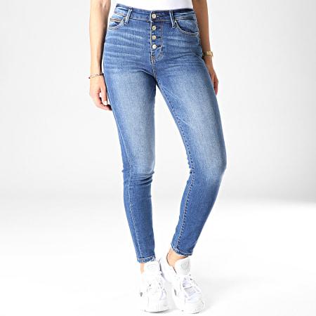 Guess - Jean Skinny Femme W93A28D3N51 Bleu Denim