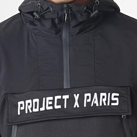 Project X - Sweat Zippé Capuche 1920028 Noir Blanc