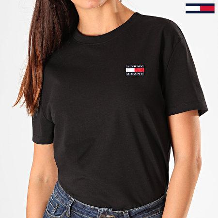 Tommy Hilfiger Jeans - Tee Shirt Femme Badge 6813 Noir