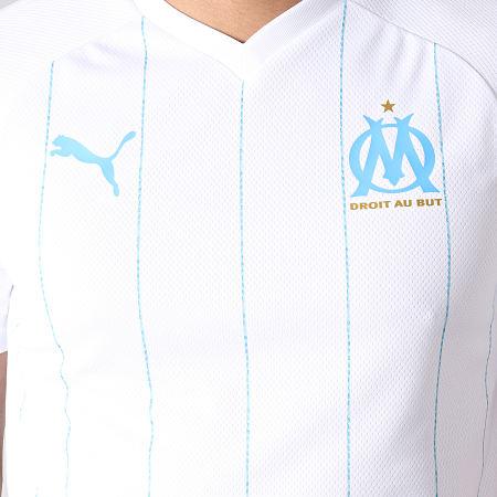Puma - Maillot De Football OM Home Authentic 755658 Blanc Bleu Clair