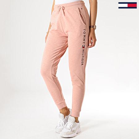 Tommy Hilfiger Jeans - Pantalon Jogging Femme Cuffed 1649 Rose Chiné