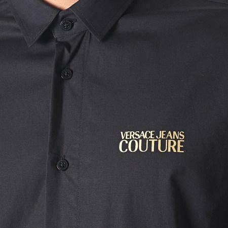Versace Jeans - Chemise Manches Longues UUP201 Slim Basic Print Logo B1GUA6S0 Noir Doré