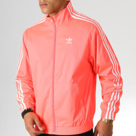 adidas Veste Zippée A Bandes Lock Up ED6095 Rose Fluo