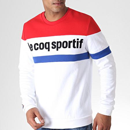 Le Coq Sportif - Sweat Crewneck Tricolore N1 Blanc Bleu Rouge