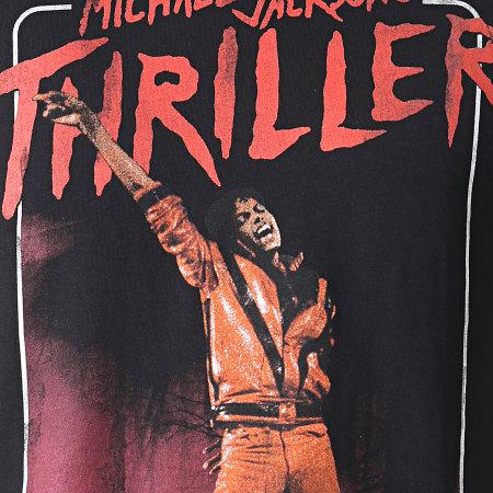 Music Nation - Tee Shirt Michael Jackson MC452 Noir Rouge
