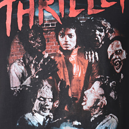 Music Nation - Tee Shirt Michael Jackson MC454 Noir Rouge