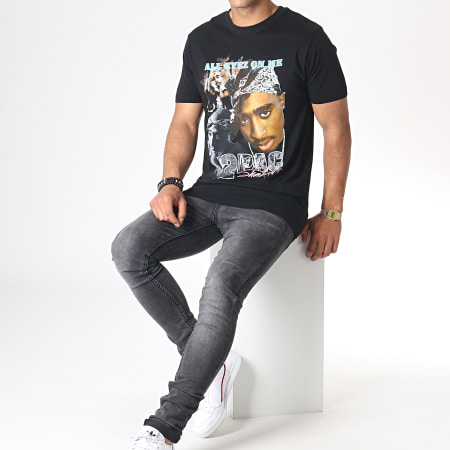 Music Nation - Tee Shirt 2pac MT621 Noir