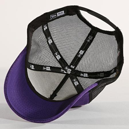 New Era - Casquette Trucker Shadow Tech Los Angeles Lakers Violet Chiné Noir