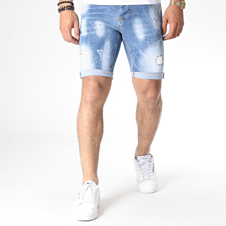 Uniplay - Short Jean Skinny 066 Bleu Denim