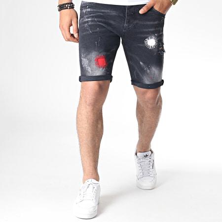Uniplay - Short Jean 063 Gris Anthracite