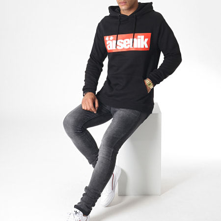 Ärsenik - Sweat Capuche Boxed Noir Rouge Blanc