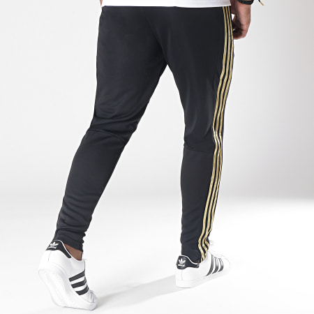adidas - Pantalon Jogging A Bandes Real Madrid DX7847 Noir Doré