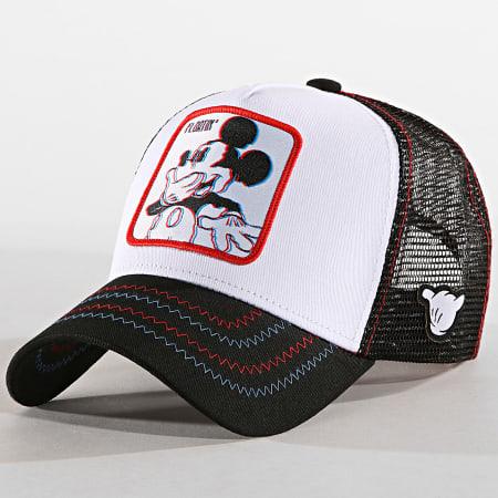 Disney - Casquette Trucker Mickey Noir Blanc