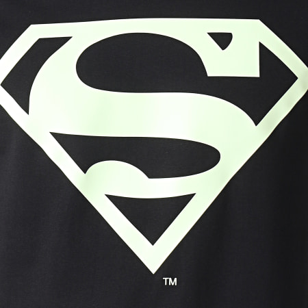 Superman - Tee Shirt Manches Longues Glow In The Dark Noir