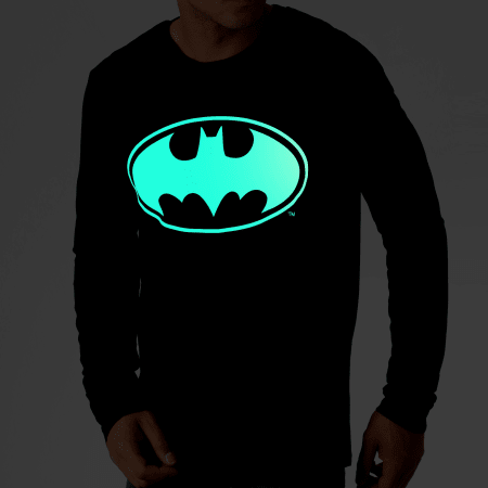 Batman - Tee Shirt Manches Longues Glow In The Dark Noir