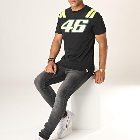 VR|46 - Tee Shirt VR351304 Noir Jaune Fluo