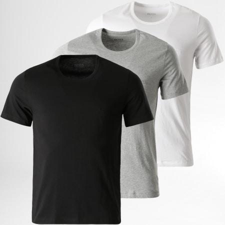 BOSS By Hugo Boss - Lot De 3 Tee Shirts 50325388 Noir Blanc Gris Chiné