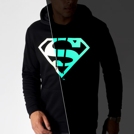 Superman - Sweat Capuche Glow In The Dark Noir
