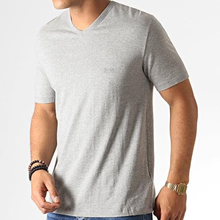 Hugo Boss - Lot De 3 Tee Shirts Col V 50325389 Noir Blanc Gris Chiné