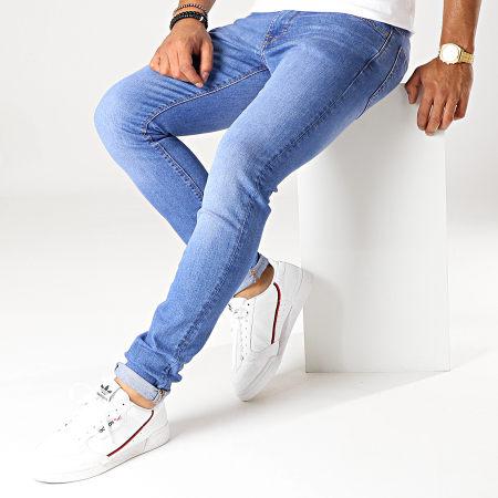 Celio - Jean Skinny Poskom45 Bleu Denim