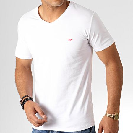 Diesel - Lot de 3 Tee Shirt Col V All Timers Michael 00SHGU-0WAVC Blanc