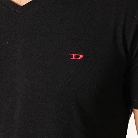 Diesel - Lot de 3 Tee Shirt Col V All Timers Michael 00SHGU-0WAVC Noir