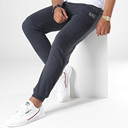 EA7 - Pantalon Jogging 8NPP53-PJ05Z Noir Argenté