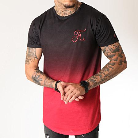 Final Club - Tee Shirt Oversize Dégradé Avec Broderie 274 Rouge et Noir
