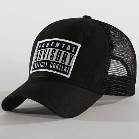 Parental Advisory - Casquette Trucker Patch Noir