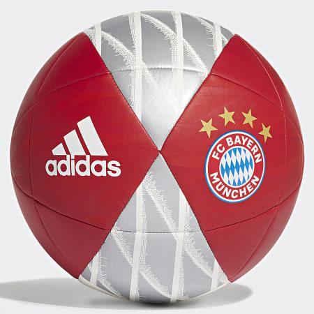 adidas - Ballon FC Bayern DY2526 Rouge Argenté