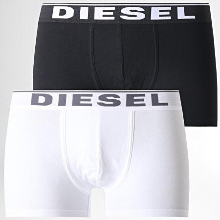 Diesel - Lot De 2 Boxers 00SMKX-0JJKB Noir Blanc