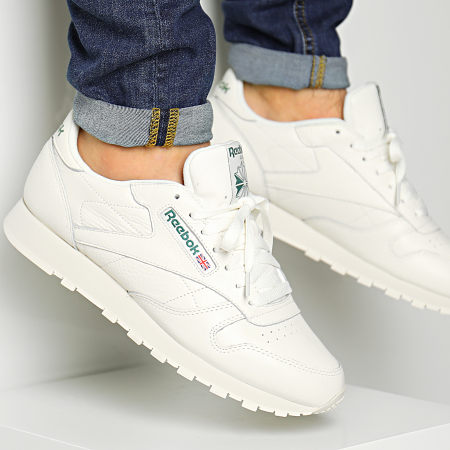 Reebok Classic Leather Mu Sneakers ChalkPaperwhiteGreen