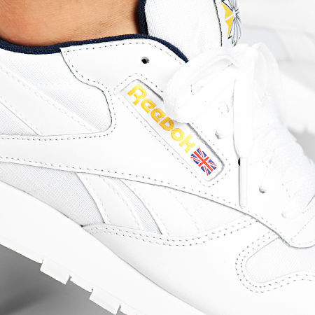 Reebok - Baskets Classic Leather MU DV9589 White Collegiate Navy Yellow