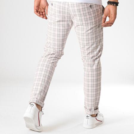 MTX - Pantalon A Carreaux 213 Rose Clair
