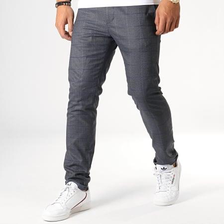MTX - Pantalon A Carreaux 235 Bleu Marine