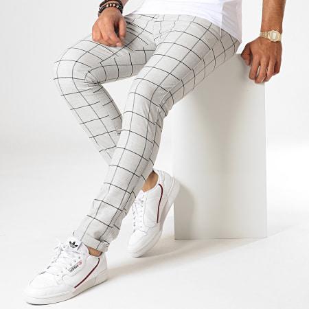 MTX - Pantalon A Carreaux 1018 Gris Chiné