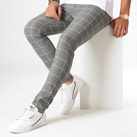 MTX - Pantalon A Carreaux 1021 Gris Anthracite