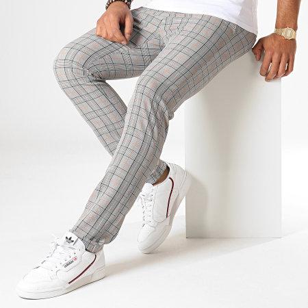 MTX - Pantalon A Carreaux 231 Gris Clair