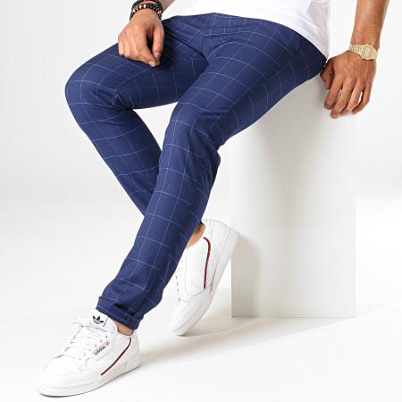 MTX - Pantalon A Carreaux 221 Bleu Marine