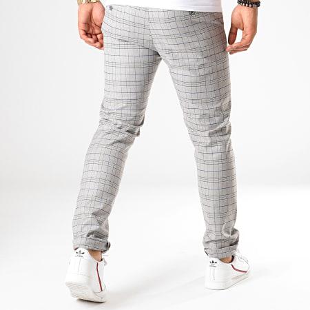 MTX - Pantalon A Carreaux 232 Gris Clair