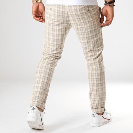 MTX - Pantalon A Carreaux 214 Ecru