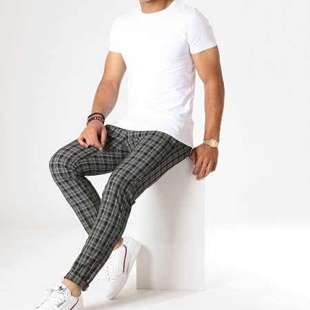 MTX - Pantalon A Carreaux 222 Noir