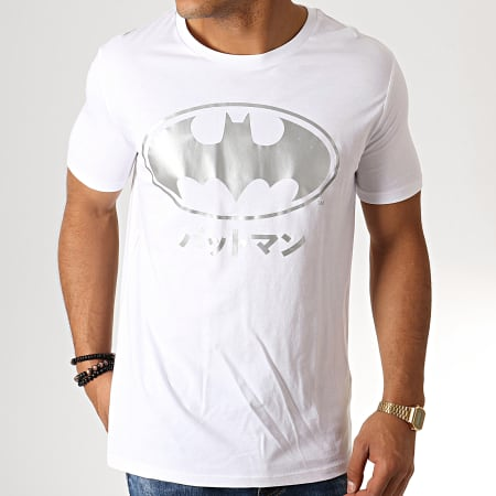 Batman - Tee Shirt Batman Japan Blanc Argenté