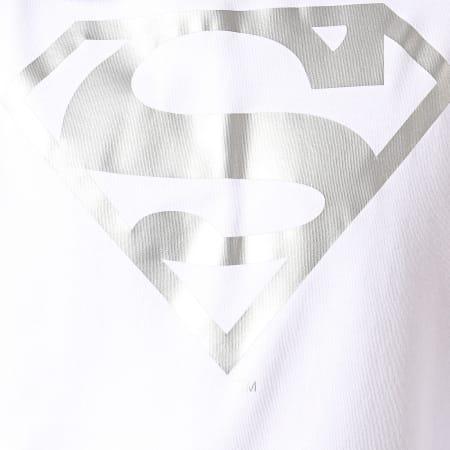 Superman - Sweat Capuche Superman Japan Blanc Argenté