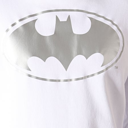 Batman - Sweat Capuche Batman Japan Blanc Argenté