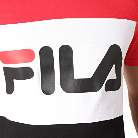 Fila - Tee Shirt Day 681244 Rouge Blanc Noir