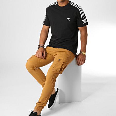 adidas - Tee Shirt A Bandes Tech ED6116 Noir